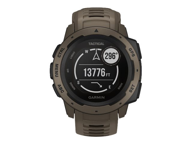 Garmin Instinct - Tactical Edition - Coyote Tan - Sportuhr mit Band - Silikon - Coyote Tan