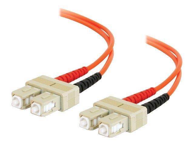 C2G 20m SC-SC 50/125 OM2 Duplex Multimode Fiber Optic Cable (TAA Compliant) - Orange - patch cable - TAA Compliant - 20…