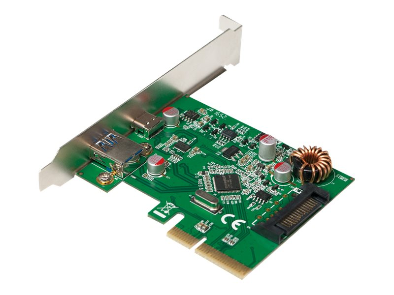 LogiLink PCI Express Interface Card, 2x USB 3.1 Gen2 - USB-Adapter - PCIe 2.0 x2 - USB 3.1 x 2