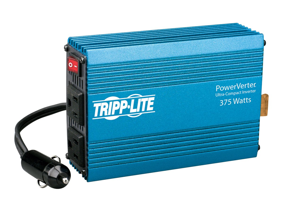 Tripp Lite Compact Car Portable Inverter 375W 12V DC to 120V AC 2 Outlets - DC to AC power inverter - 375 Watt