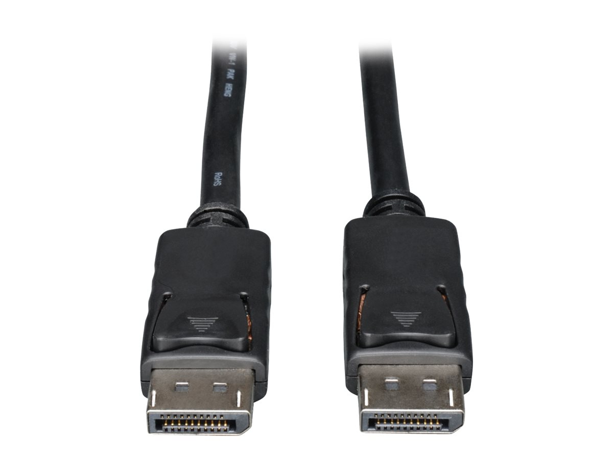 Tripp Lite 10ft DisplayPort Cable with Latches Video / Audio DP 4K x 2K M/M 10' - DisplayPort cable - 3 m