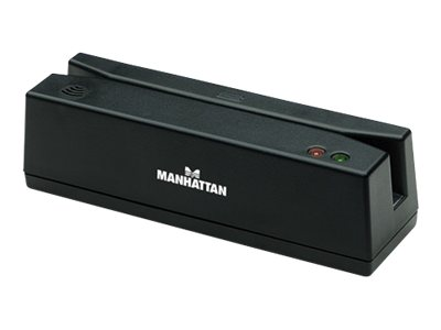Manhattan Magnetic Strip Card Reader - Magnetkartenleser ( Spuren 1, 2 & 3 ) - USB - Schwarz
