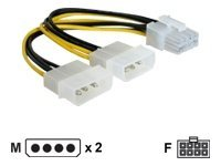 DeLOCK 4-pin intern strøm (12 V) (male) - 8 pin PCI Express-strøm (female) 30cm