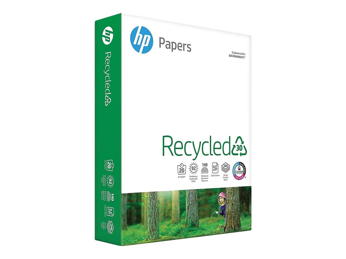 HP Office Recycled Paper - recycled paper - 5000 sheet(s) - Letter - 75.2 g/m²