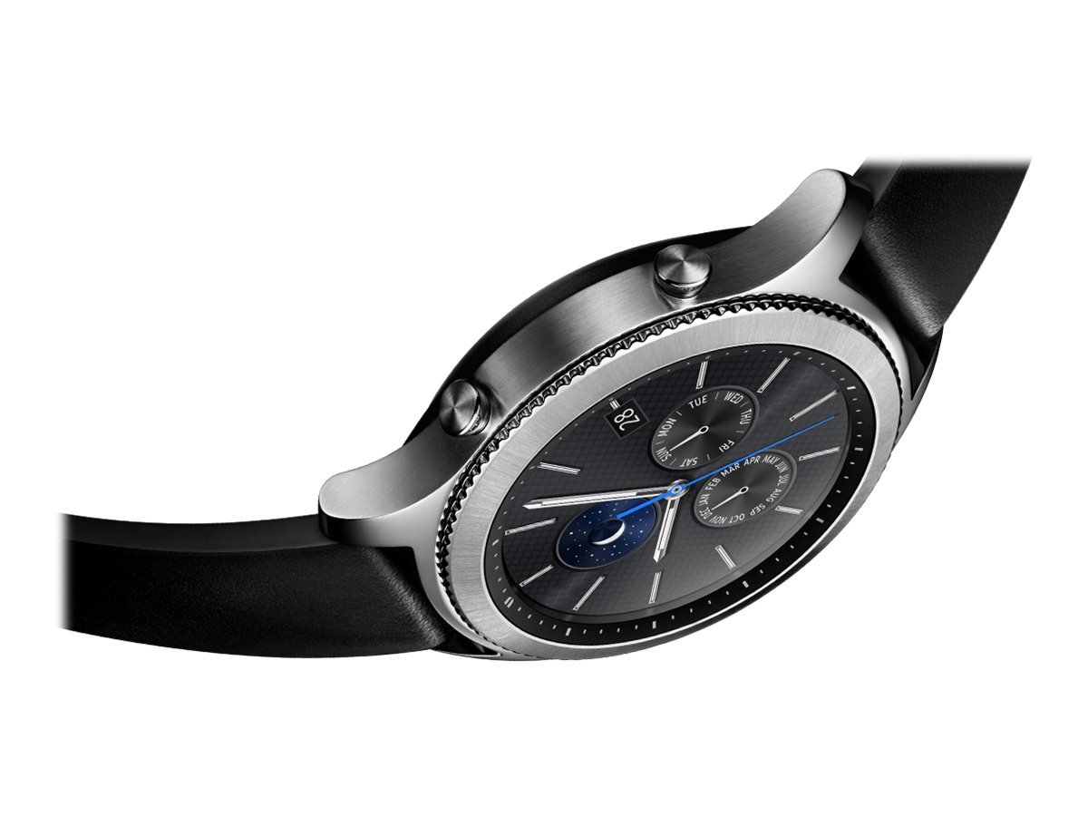 Samsung Gear S3 Classic Silver Smart Watch With Band Black 4 S17842182 Sm R770nzsaxar 887276185156 New