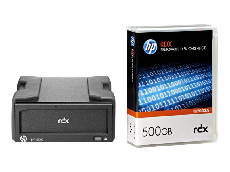 HPE RDX Removable Disk Backup System - Laufwerk - RDX - SuperSpeed USB 3.0 - extern - mit 500-GB-Kassette