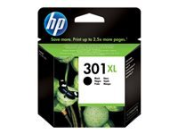 HP 301XL - High Yield - black - original - ink cartridge - for Deskjet 10XX, 15XX, 2050A J510, 2054A J510, 25XX; Envy 45XX, 55XX; Officejet 26XX, 46XX