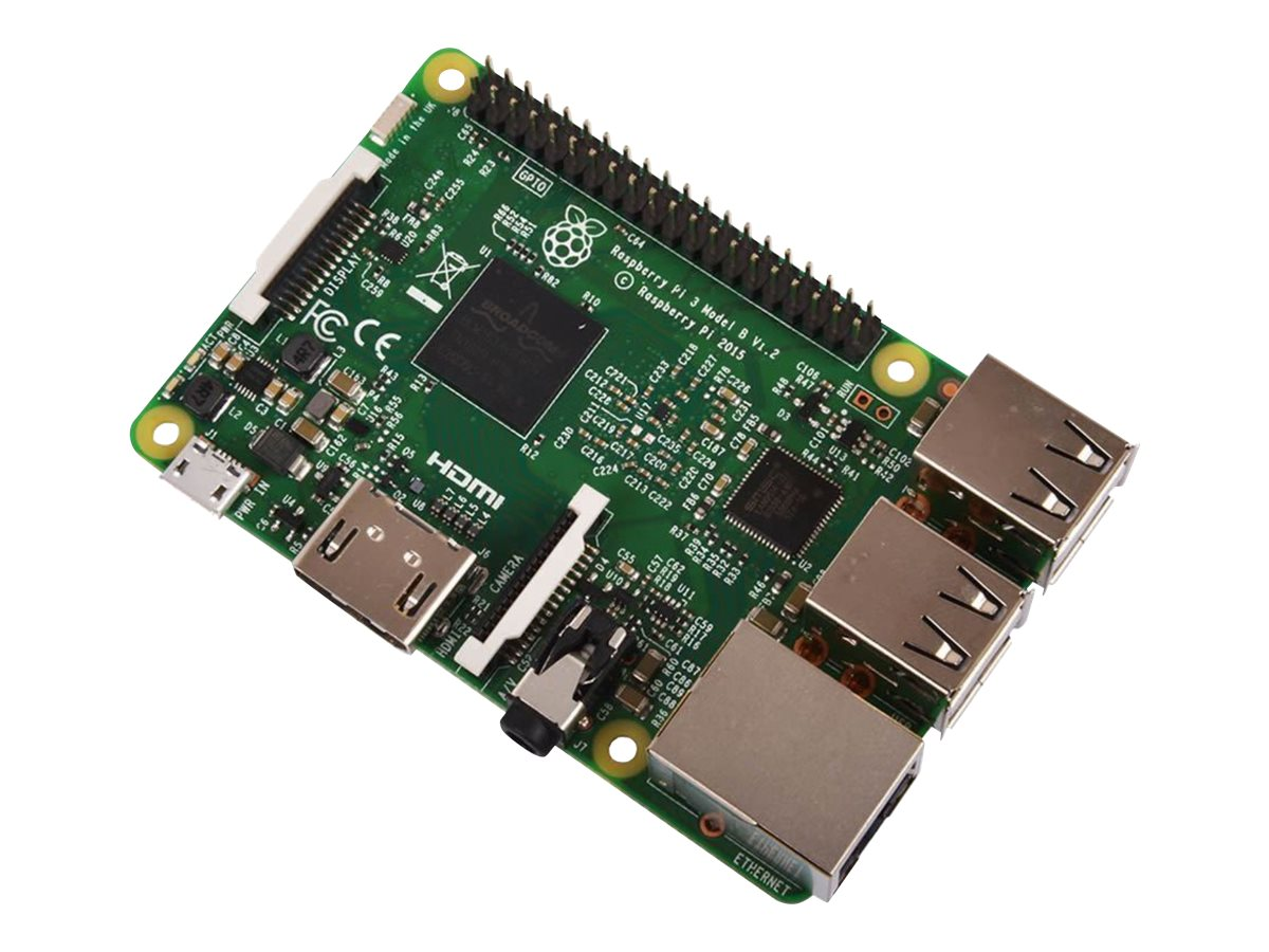 Raspberry Pi 3 Model B - Einplatinenrechner - Broadcom BCM2837 1.2 GHz - RAM 1 GB - 802.11b/g/n, Bluetooth 4.1 LE