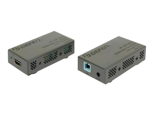 Gefen 4K Ultra HD 600 MHz Extender for HDMI over one Fiber-Optic Cable - transmitter and receiver - video/audio extender