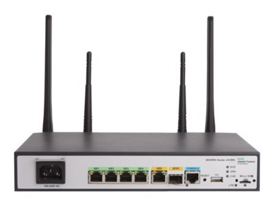 HPE MSR954-W (AM) Wireless router WWAN 4-port switch GigE WAN ports: 2 802.11b/g/n