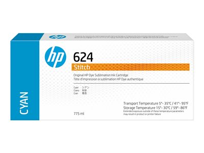 HP 624 - cyan - original - ink cartridge