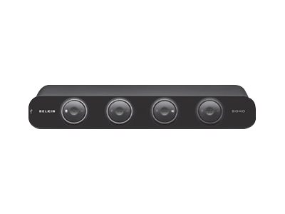 Belkin OmniView SOHO Series 4 Port KVM Switch with Audio - KVM-/Audio-/USB-Switch - 4 x KVM/Audio/USB - 1 lokaler Benutzer - Desktop - Gleichstrom