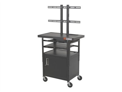 BALT Height Adjustable Flat Panel TV Cart Cart for LCD display screen si