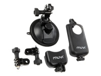 Veho Universal suction mount with cradle - Support system - suction mount - for muvi HD, micro DV