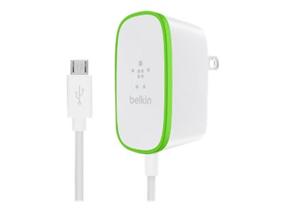 Belkin Home Charger with hardwired cable power adapter - Micro-USB Type B - 12 Watt