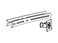 Ergotron DS100 Crossbar Extender, Long - mounting component - for 2 LCD displays