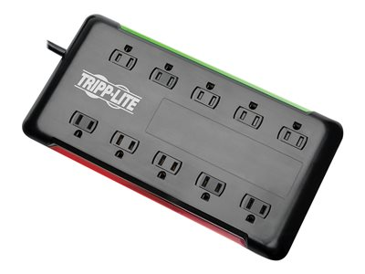 Tripp Lite 10-Outlet Surge Protector Power Strip 6ft Cord 2880 Joules Black Surge protector