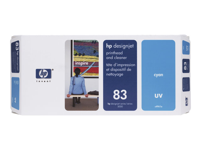 HP - 680 ml - cyan - printhead with cleaner