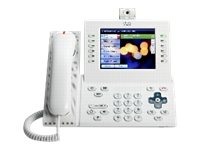 Cisco UC Phone 9971, A White, Slm Hndst with Camera