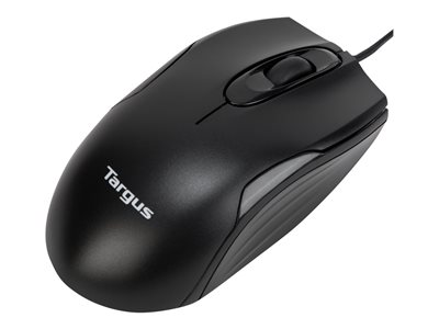 Targus U575 Mouse right and left-handed optical wired USB black