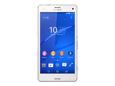 "Sony XPERIA Z3 Compact - D5803 - smartphone - 4G LTE - 16 GB - microSDXC slot - GSM - 4.6"" - 1280 x 720 pixels - IPS - RAM 2 GB - 20.7 MP (2.2 MP front camera) - Android - white"