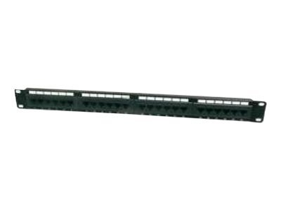 DIGITUS Professional DN-91616U - Patch Panel - RJ-45 X 16 - Schwarz, RAL 9005 - 1U - 48.3 cm (19