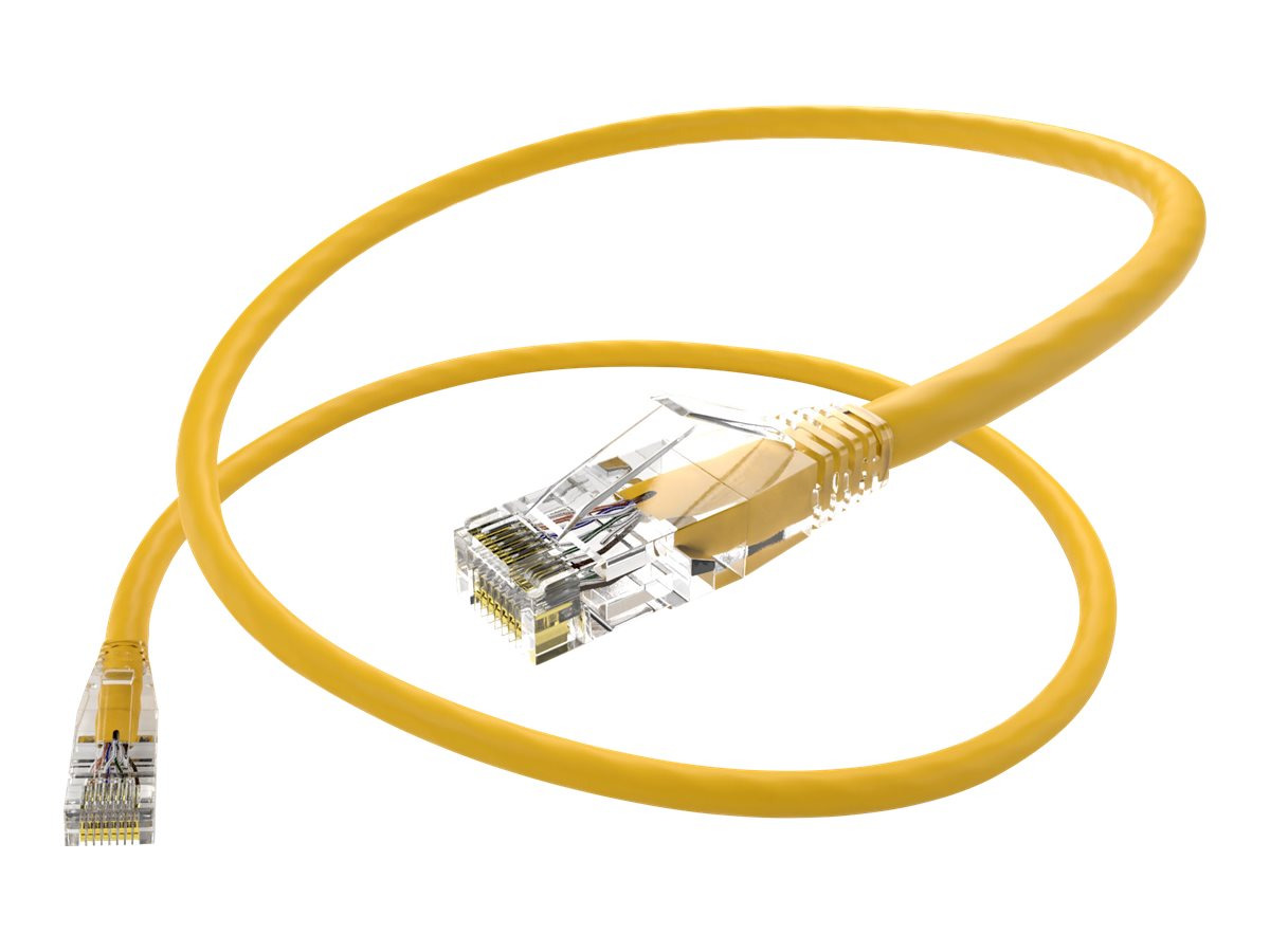 Oncore ClearFit patch cable - 2.4 m - yellow