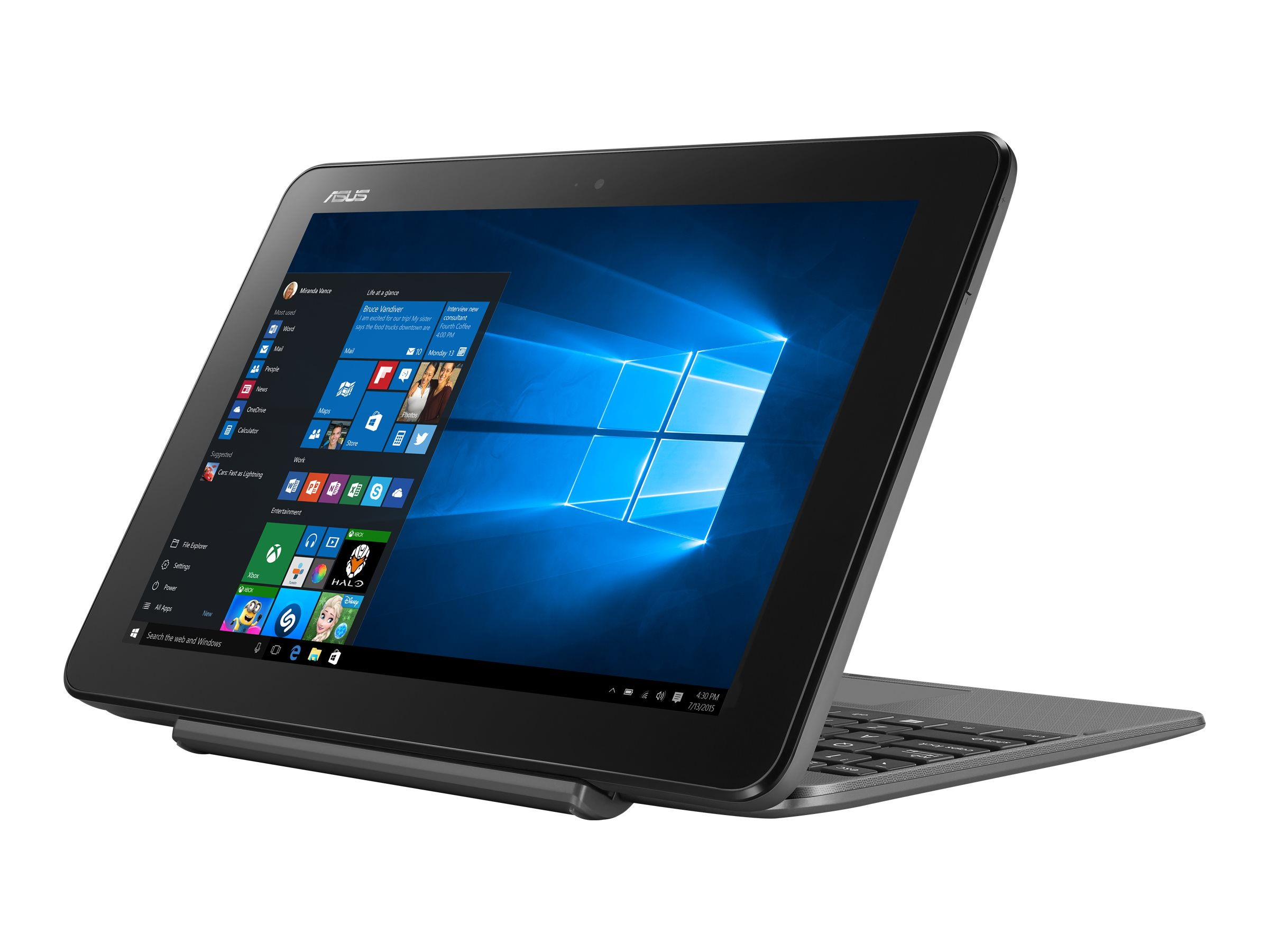 ASUS Transformer Book T101HA GR029R - Tablet - mit Tastatur-Dock - Atom x5 Z8350 / 1.44 GHz - Win 10 Pro 64-Bit - 4 GB RAM