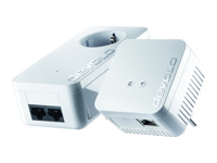 Devolo dLAN 550 WiFi - Starter Kit - bridge - HomePlug AV (HPAV), IEEE 1901 - 802.11b/g/n - 2.4 GHz - wall-pluggable