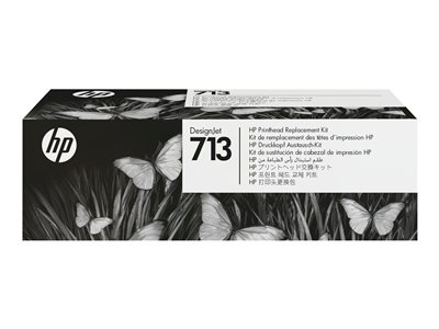 HP 713 - 4-pack - yellow, cyan, magenta, pigmented black - original - DesignJet - printhead replacement kit