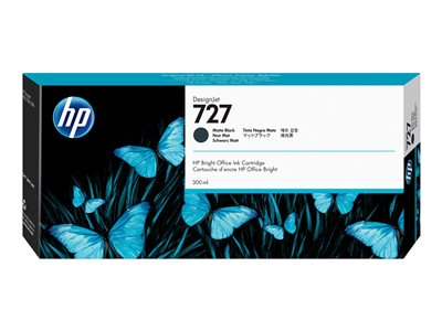 HP 727 300 ml High Capacity matte black original DesignJet ink cartridge