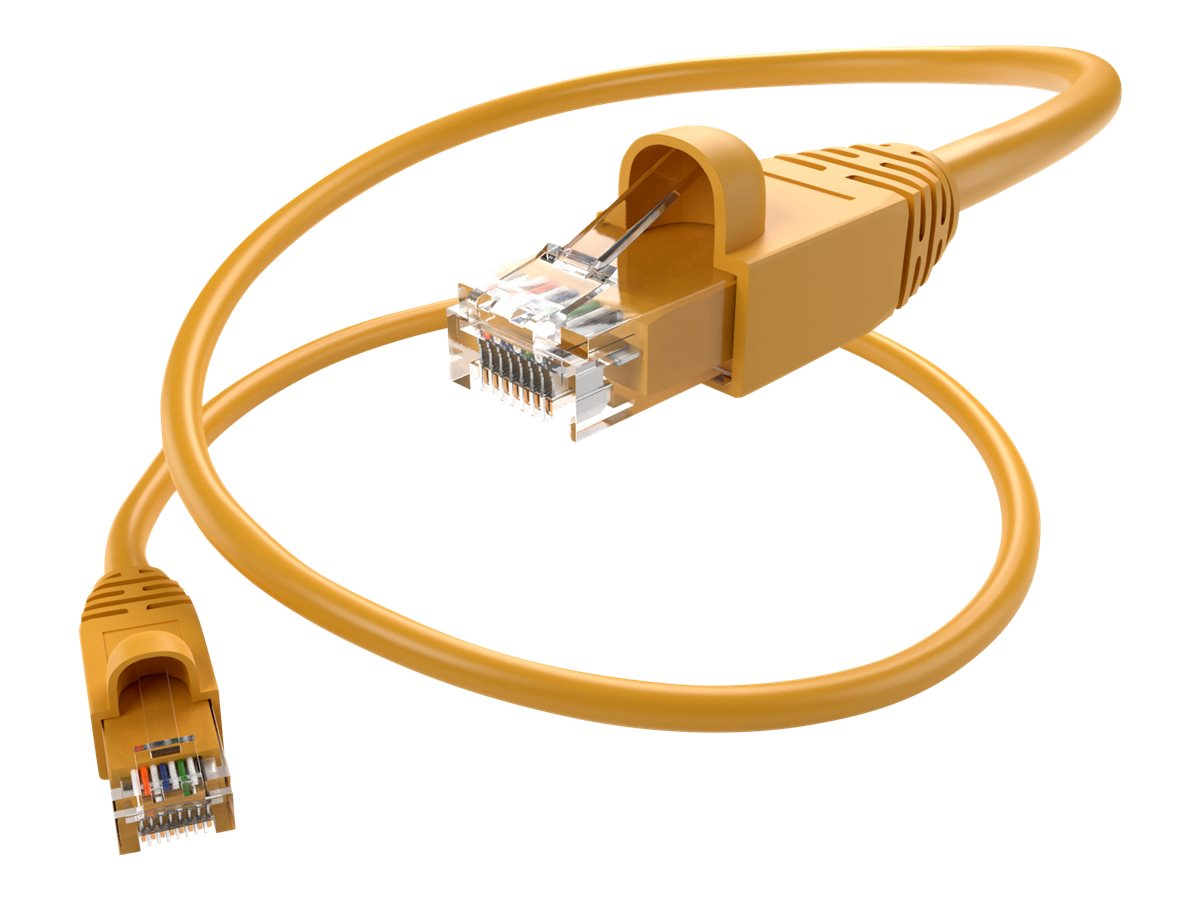 Unirise patch cable - 22.9 m - yellow
