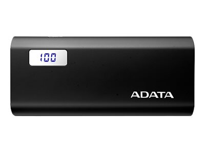 ADATA P12500D Power bank 12500 mAh 2.1 A 2 output connectors (USB) black