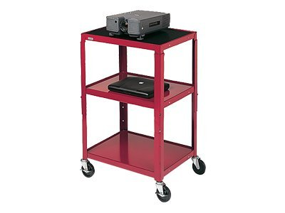 Bretford Adjustable Audio Visual Cart - Cart for TV, overhead projector, VCR - black - screen size: 13