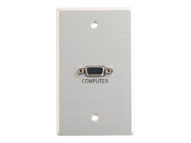 C2G Classic Series VGA Pass Through Single Gang Wall Plate - Brushed Aluminum - mounting plate