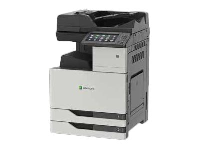 Lexmark CX921DE - Imprimante multifonctions - couleur - laser - 297 x 432 mm (original) - Tabloid Extra (305 x 457 mm), SRA3 (320 x 450 mm) (support) - jusqu'à 35 ppm (copie) - jusqu'à 35 ppm (impression) - 1150 feuilles - 33.6 Kbits/s - USB 2.0, Gigabit LAN, hôte USB 2.0