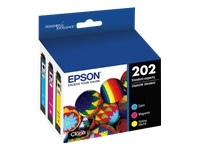 Epson 202 Multi-pack With Sensor - 3-pack - yellow, cyan, magenta - original - ink cartridge - for Expression Home XP-5100; WorkForce WF-2860
