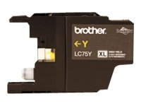 Brother LC-75Y High Yield yellow original ink cartridge