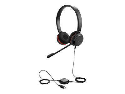 Jabra Evolve 30 II MS stereo Kabling Sort Headset