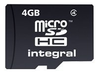 Integral - Carte mémoire flash - 4 Go - Class 4 - microSDHC