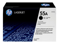 HP 55A Black original LaserJet toner cartridge (CE255A)