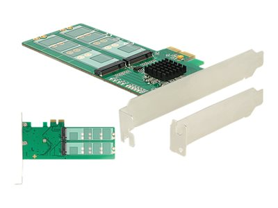 PCI Express Card > 4 x internal M.2 Key B - Low Profile Form Factor