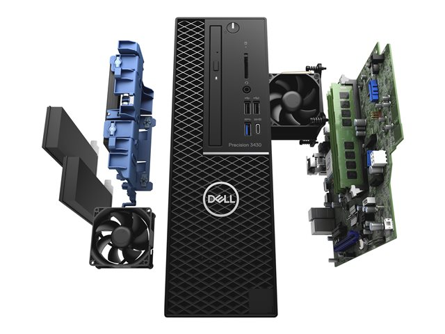 Dell Precision 3430 Small Form Factor - SFF - Xeon E-2174G 3.8 GHz - 16 Go - 256 Go