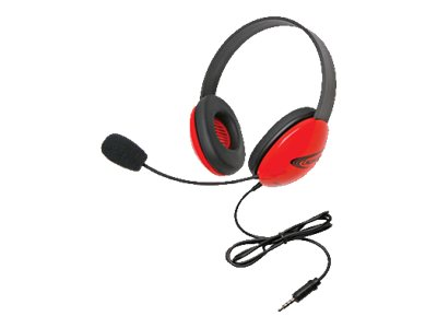 Califone Listening First Stereo Headset 2800-RDT Headset full size wired red