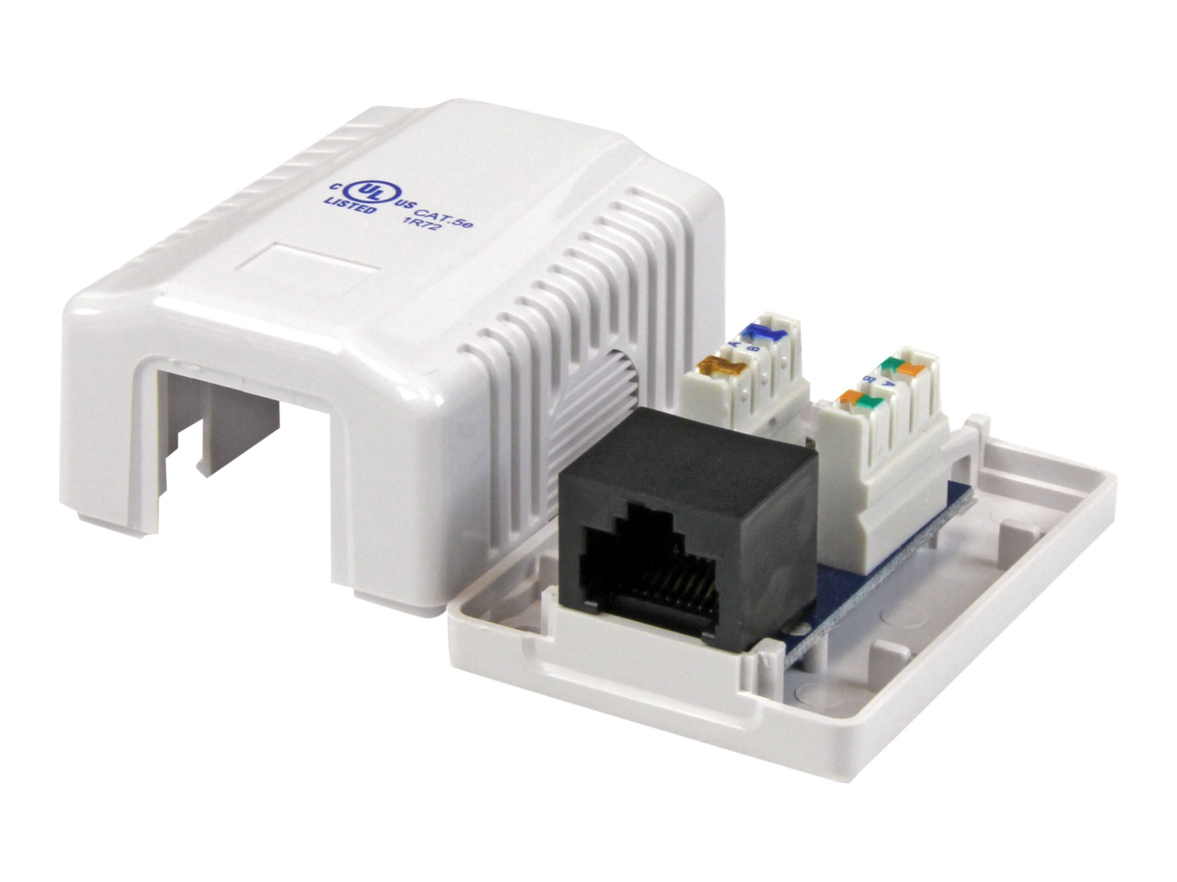 StarTech.com Single Cat5e RJ45 Wall Jack White with Keystone Jack - outlet