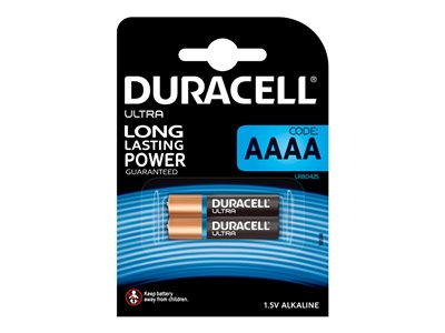Piles & Chargeurs Duracell Ultra MX2500 - batterie - 2 x AAAA - Alcaline