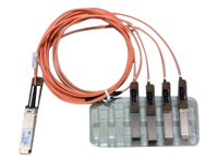 Picture of Cisco Direct-Attach Breakout Cable - network cable - 3 m - orange (QSFP-4X10G-AOC3M=)