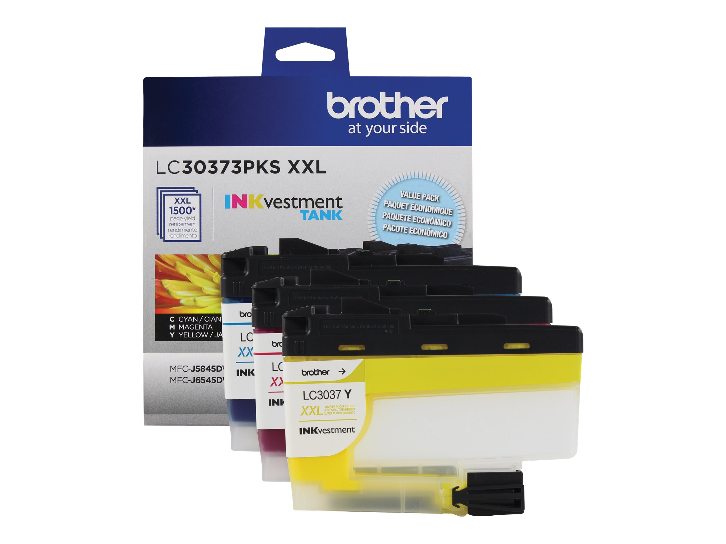 Brother LC-30373PKS - 3-pack - Super High Yield - yellow, cyan, magenta - original - ink cartridge