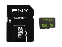 PNY High Performance - Carte mémoire flash (adaptateur microSDXC vers SD inclus(e)) - 128 Go - UHS-I U1 / Class10 - microSDXC UHS-I