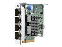HPE 366FLR - Network adapter - PCIe 2.1 x4 - Gigabit Ethernet x 4 - for ProLiant DL20 Gen10, DL360 Gen10, DL380 Gen10, DL385 Gen10; SimpliVity 325 Gen10